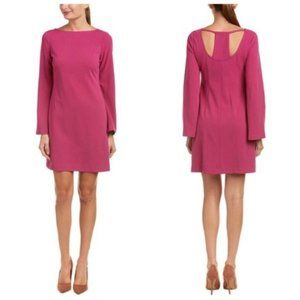 DONNA MORGAN Pink Bell Sleeve Shift Dress
